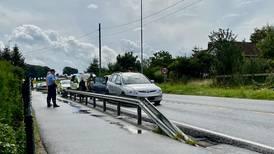 Trafikkulykke mellom to kjøretøy
