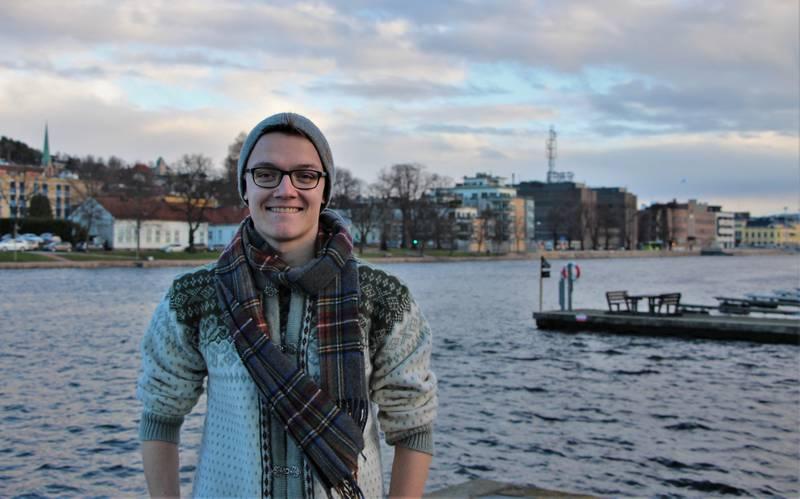 Timo Nicolaisen ble leder i Drammen Venstre 3.12.2018. FOTO: KENNETH LIA SOLBERG