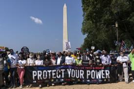 Titusener protesterte mot lover som begrenser muligheten til å stemme i USA