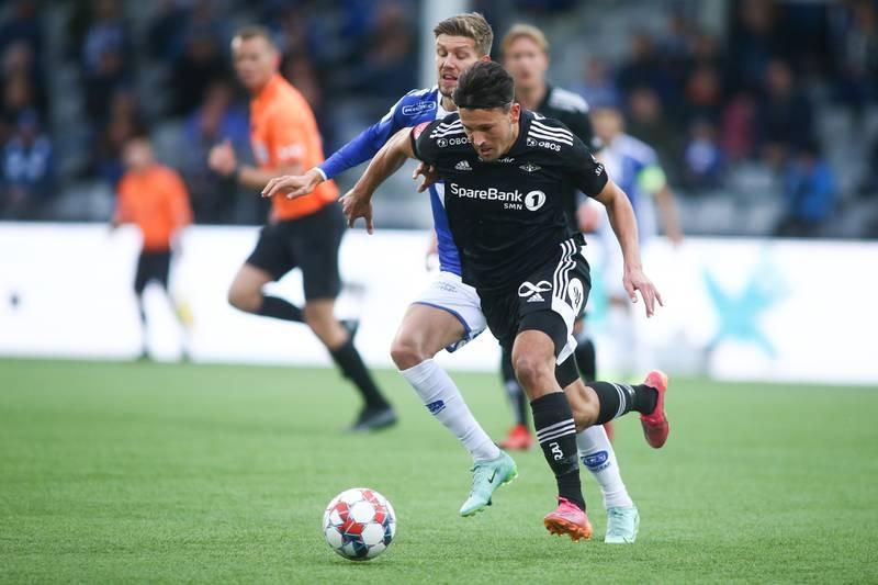 Rosenborgs Stefano Vecchia fikk to fulltreffere søndag. Foto: Christoffer Andersen / NTB