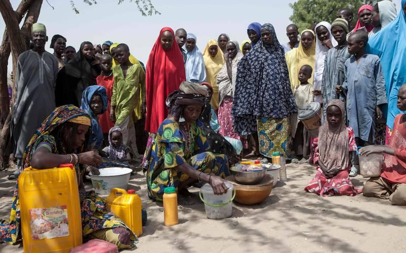 Internt fordrevne i Dikwa, Nigeria. Nigeria er landet som vil ha flest ekstremt fattige mennesker i 2030,      ifølge en ny rapport.