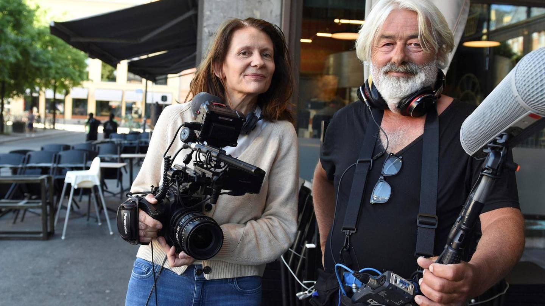"""Aslaug Holm og Sigve Endresen, regissører på dokumentarfilmen """"Generasjon Utøya"""""""