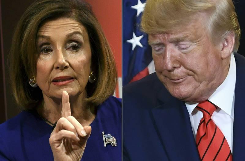Nancy Pelosi og Donald Trump var ikke akkurat bestevenner under Trumps periode i Det hvite hus.