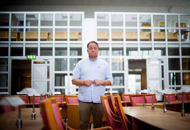 Partileder Frode Myrhol i Folkeaksjonen nei til mer bompenger (FNB)  (Til portrettintervju i Dagsavisen 31. august 2019)