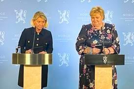 Erna Solberg: – Meldingene som kommer fra Kongsberg i kveld, er grufulle