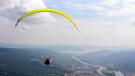 Solbergåsen i Nedre Eiker er et eldorado for paraglidere