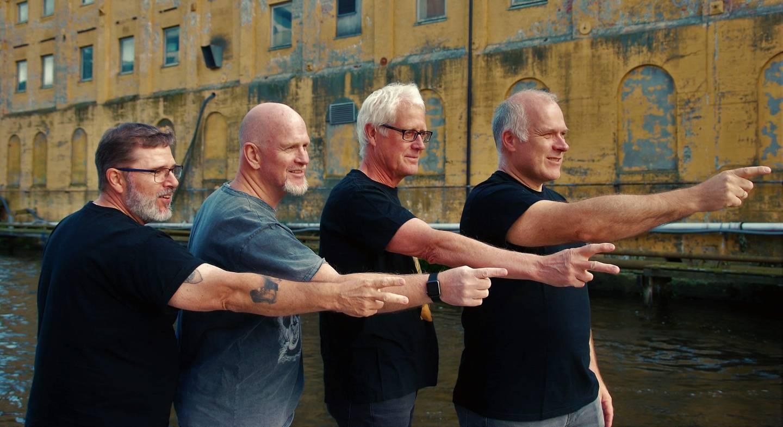 Bandet Høytrykk. Fra venstre: Harry Sørensen, Bjørn-Tore Karlsen, Per Harald Vold og Espen Bugten.