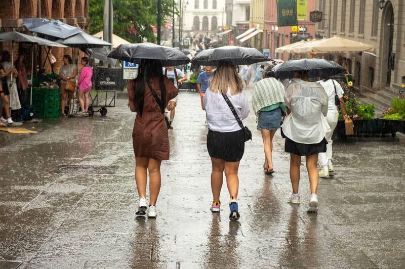 Til uken kommer regnværet etter flere uker med tropevarme i hovedstaden. Illustrasjonsfoto: Annika Byrde / NTB