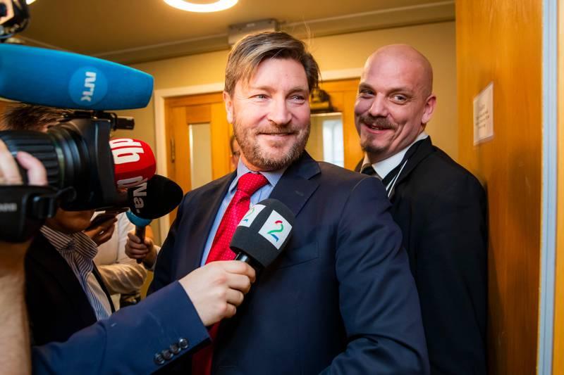 Oslo 20200115.  Stortingsrepresentant Christian Tybring-Gjedde på vei inn til gruppemøtet i Frp i Stortinget onsdag. Foto: Håkon Mosvold Larsen / NTB scanpix