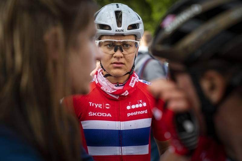 Katrine Aalerud syklet Liège-Bastogne-Liège søndag. Foto: Heiko Junge / NTB