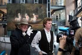 Anmeldelse: Ville Odd Nerdrums maleri «Tre menn i en båt» gjort Høstutstillingen bedre?