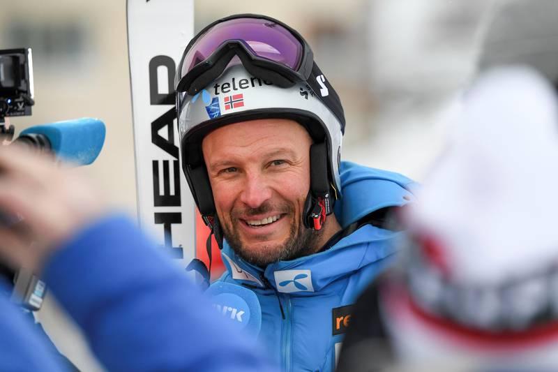 ÅRE, SVERIGE 20190209. Norges Aksel Lund Svindal venter på start i utfor menn under VM i Åre 2019. Starten er utsatt med en halvtime. Foto: Pontus Lundahl/TT / NTB scanpix