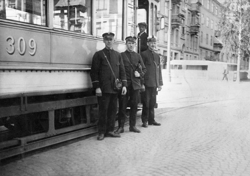 Egne konduktører fikk sporveien først på slutten av 1890-tallet.