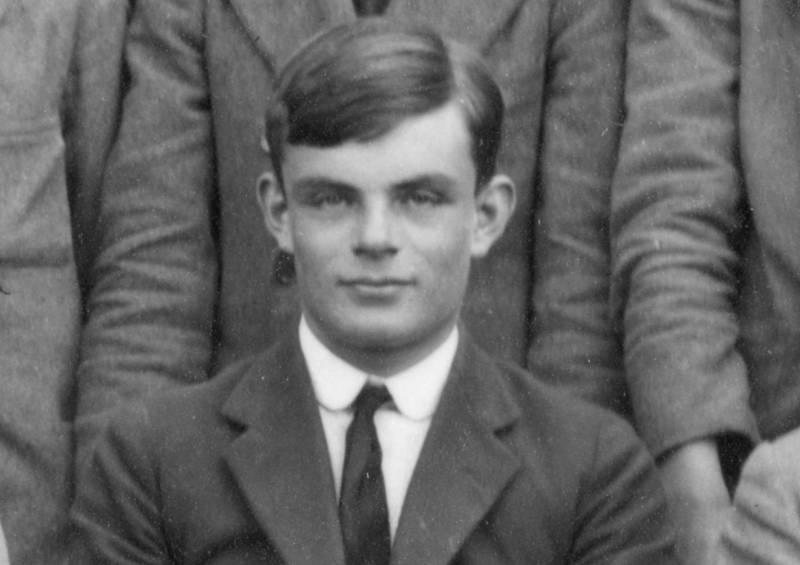Alan Turing som 18-åring i 1930.