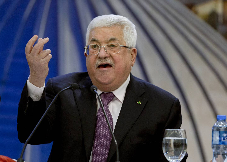 Palestinernes 85 år gamle president Mahmoud Abbas.