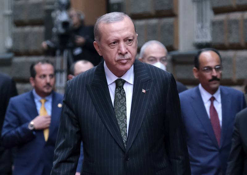 Tyrkias president Recep Tayyip Erdogan under et besøk i Bosnia sist fredag.