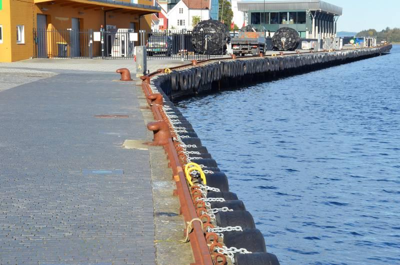 Det er cirka 50 meter mellom hver stige langs Strandkaien og Skagenkaien i Stavanger sentrum.