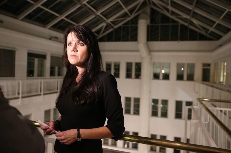 Oslo  20161027. Administrerende direktør Anne-Kari Bratten i Spekter etter at den tvungne meklingen mellom partene i lokførerstreiken har brutt sammen. Dermed fortsetter streiken blant lokførerne. Foto: Audun Braastad / NTB