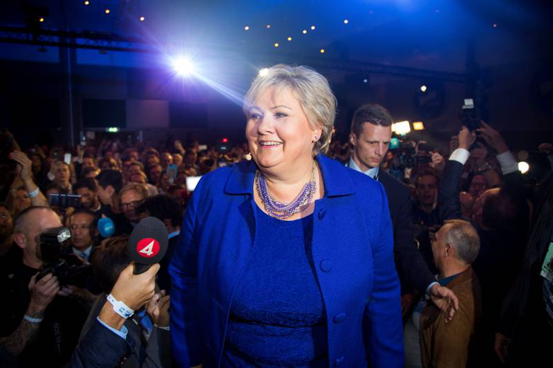 Fikk fortsette: Erna Solbergs regjering ble sittende etter stortingsvalget i høst.