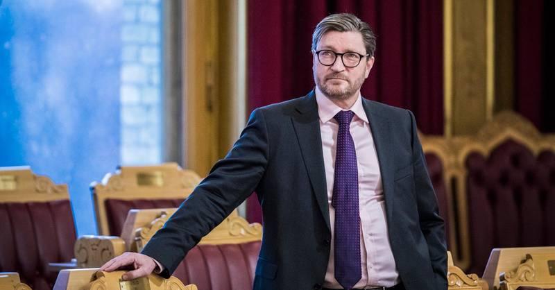 Oslo 20200129.  Christian Tybring-Gjedde (FrP) under stortingets muntlige spørretime onsdag. Foto: Ole Berg-Rusten / NTB