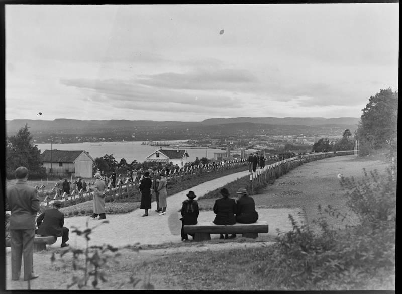 Krigskirkegården på Ekeberg 1940.