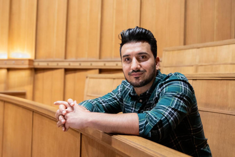 Siavash Mobasheri fra Rødt. Rådhuset, november 2019.