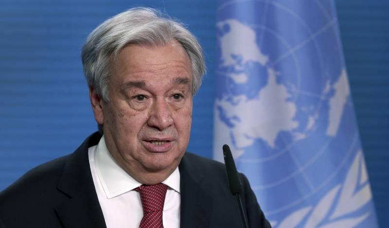 António Guterres sier det må kraftig lut til dersom det skal være mulig å nå målet om å begrense den globale oppvarmingen til 1,5 grader sammenlignet med førindustrielt nivå. Arkivfoto: Michael Sohn / AP / NTB