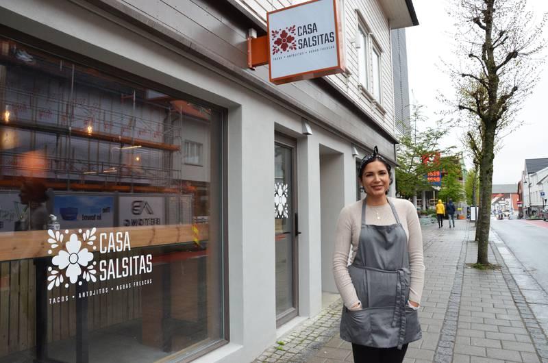 Patricia Mendez fra Mexico har startet ekte mexicansk takeaway i Pedersgata. Hemmeligheten ligger i salsaen, sier hun.