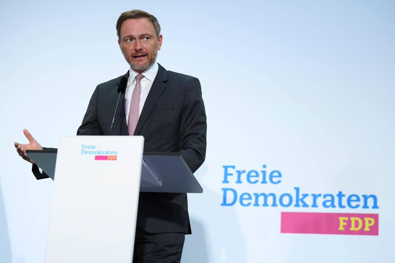 FDP-leder Christian Lindner kan, i likhet med De grønne, avgjøre hvordan Tysklands neste regjering skal se ut.