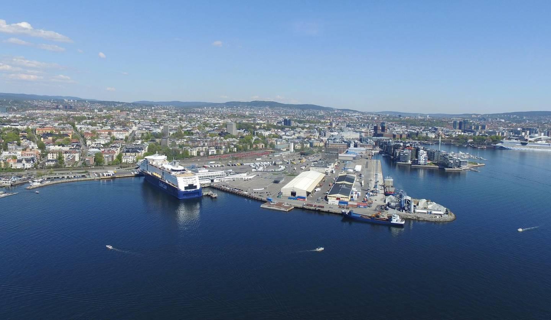 Oslo  20160509. Filipstad fra luften. Oversiktsbilde. Color Line. Foto: Ivar Ekseth / NTB Scanpix