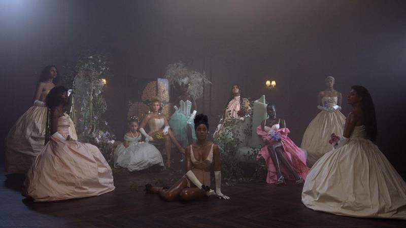 """Beyoncé, Blue Ivy Carter and Kelly Rowland in """"Brown Skin Girl"""" from the visual album BLACK IS KING, on Disney+"""