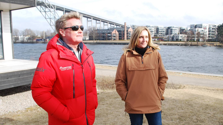 Morten Nyborg, gatelagsgründer og leder for foreningen Idretten skaper sjanser, og Monica Brynhildsen.