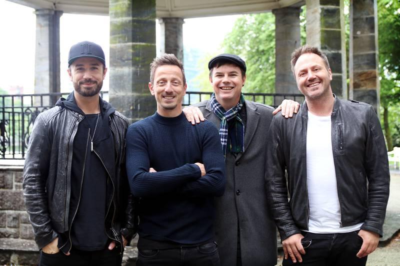Stavangerkameratene, som består av Kjartan Salvesen, Tommy Fredvang, Glenn Lyse og Ole Alexander Mæland, slipper sitt selvtitulerte debutalbum på fredag. FOTO: TONE HELENE OSKARSEN