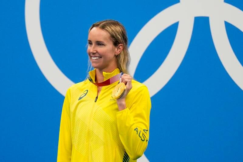 Emma McKeon tok OL-gullet på kvinnens finale i 100 meter fri. Foto: Jae C. Hong / AP/ NTB