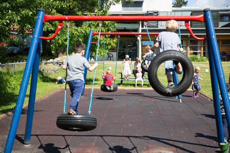 Barn fra Melløsparken barnehage i Moss. Befolkning. Oppvekst.