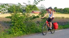 Turtips: Med tohjuling mellom Drammen og Sande