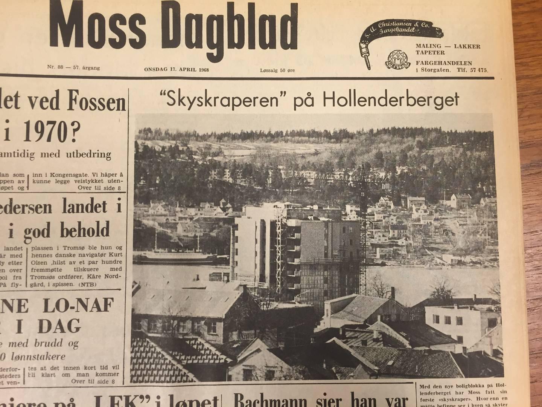 Byhistorie - Hollenderbjerget. Høyblokk. Moss.
