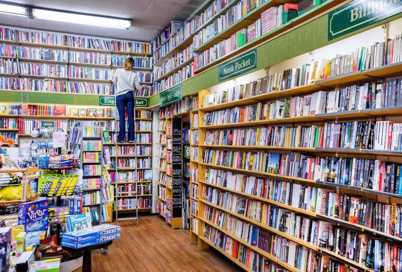 Ap drar fram en gammel kampsak: En lov som regulerer bokmarkedet. (Illustrasjonsbilde fra bokhandel).              Foto: Gorm Kallestad/NTB