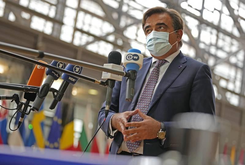 EU-kommisjonens visepresident Margaritis Schinas. Foto: AP / NTB