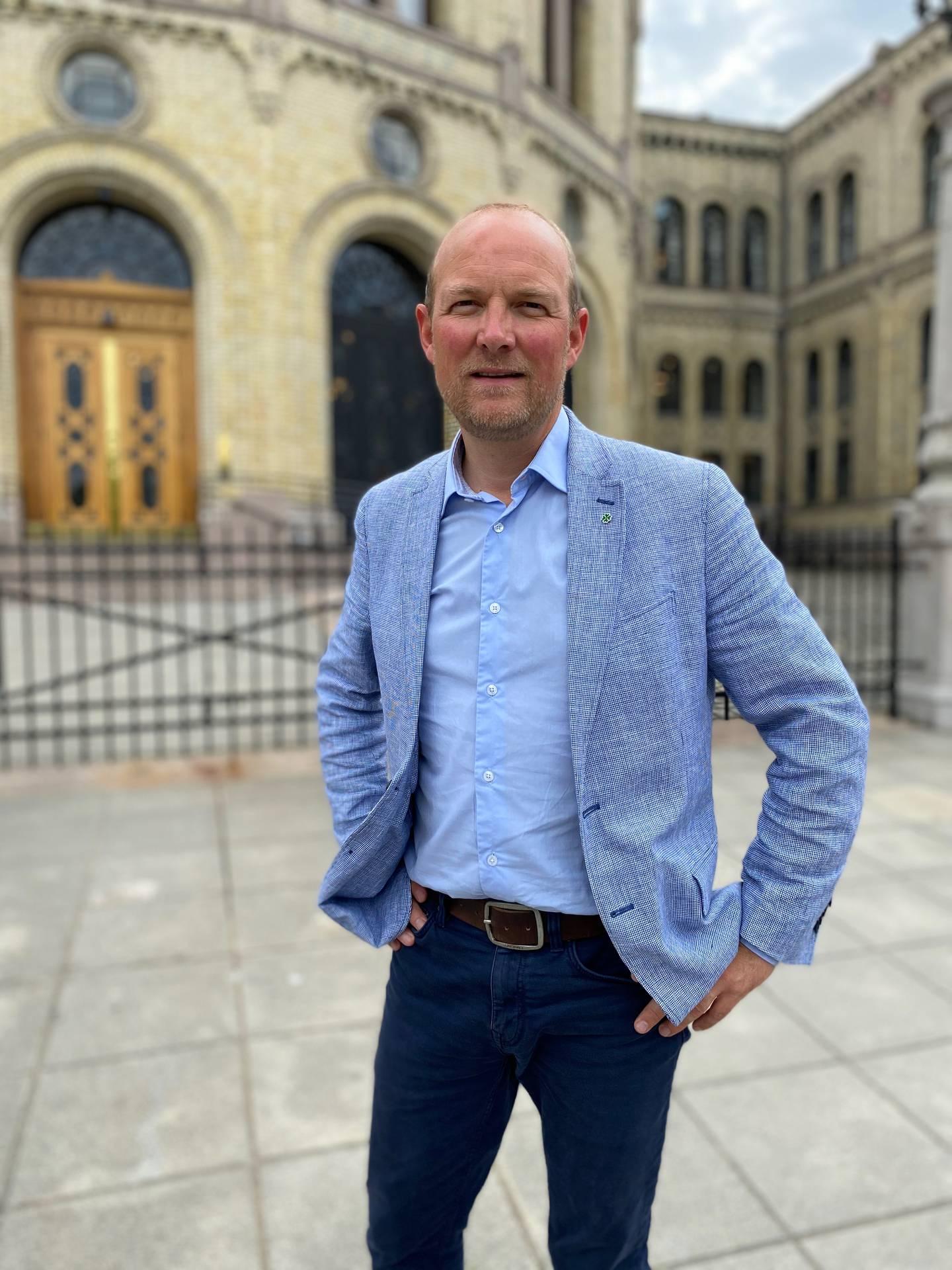 Ole André Myhrvold, stortingsrepresentant, Østfold Senterparti