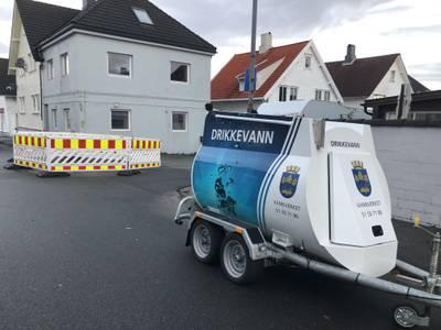 Vannledningsbrudd på Storhaug