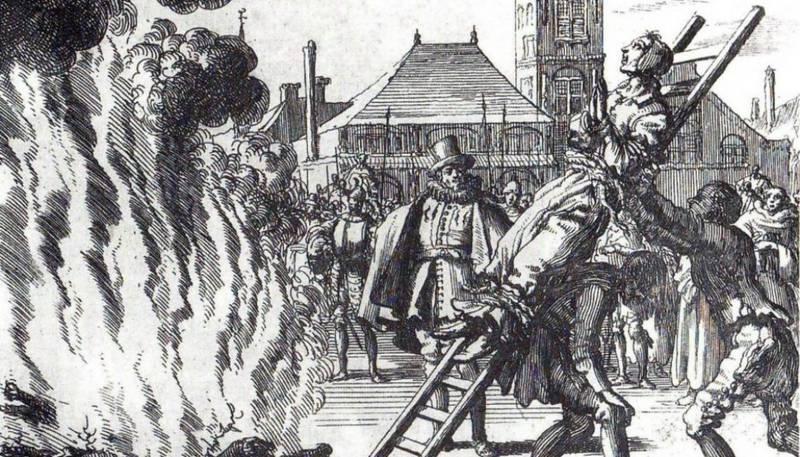 Heksene ble brent på bålet