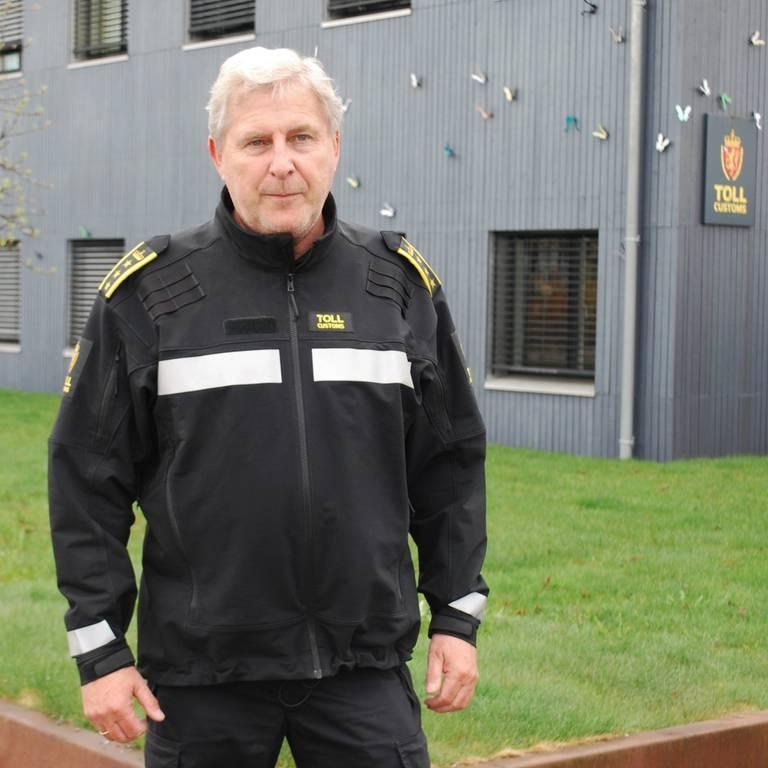 Per Kristian Grandahl, seksjonssjef ved Svinesund tollsted.