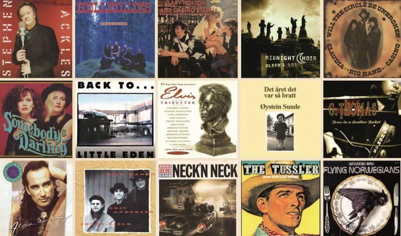 De 15 albumene som utgjør «Norsk americana kanon» fram til år 2000.