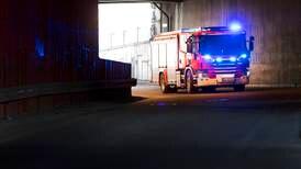 Røykutvikling i vogntog i tunnel