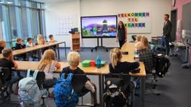 Første skoledag på splitter ny Hvaler-skole