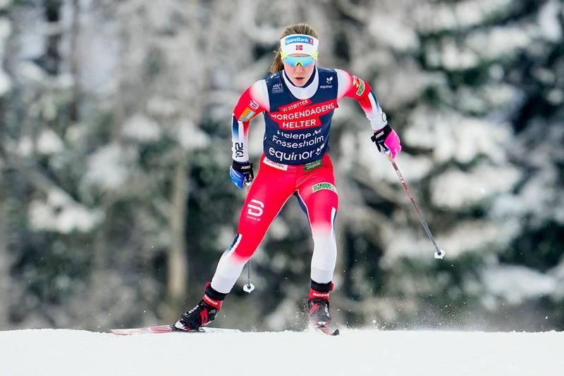 Trondheim 20210119.  Helene Marie Fossesholm under 10km fri intervallstart i Granåsen. Foto: Ole Martin Wold / NTB