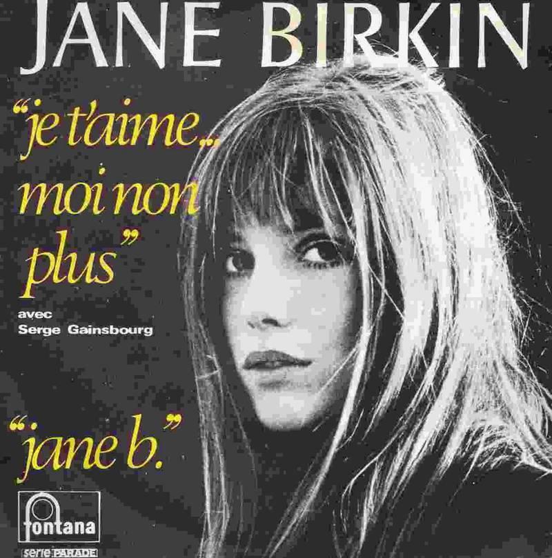 Jane Birkin på omslaget av «Je T'aime Moi Non Plus» i 1969.